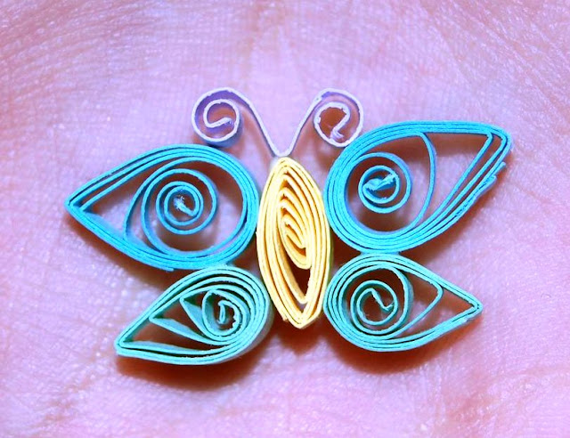 easy paper quilling butterfly for kids
