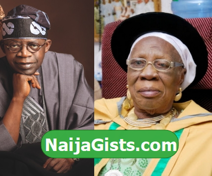 bola tinubu mother died dead