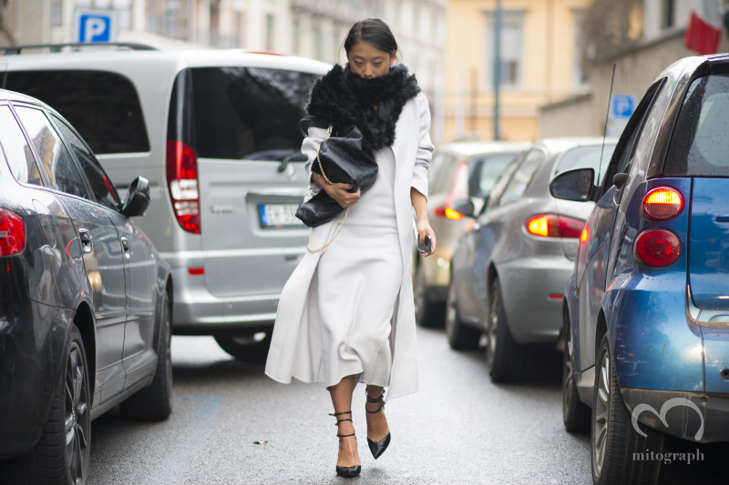 Blogger Margaret Zhang at Milan Fashion Week MFW