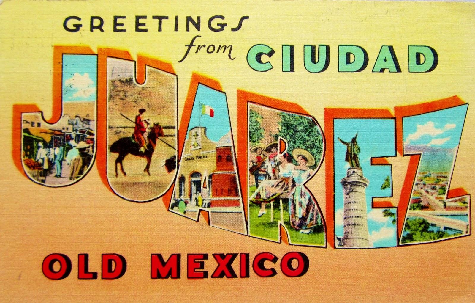 Colorful MEXICO Linen Postcards