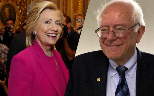 Hillary Clinton ainda por perder para Bernie Sanders