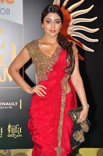 Actress Shriya Saran Latest Pictures in Red Saree at IIFA Utsavam Awards 2016  252814).jpg