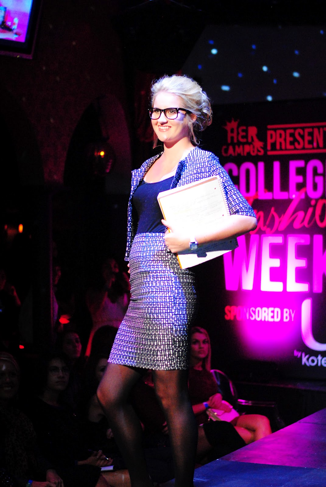 Her Campus' first national College Fashion Week that took place at The Estate in downtown Boston last night. Sponsored by U by Kotex, NYX Cosmetics, Luna Bar and Svelte, all the attendants received a nice gift bag, free feminine care products by U by Kotex and complimentary Pinkberry and candy.