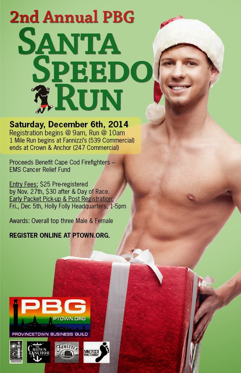 Provincetown 2nd Annual Santa Speedo Run  December 6, 2014