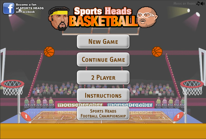 "Play Online Olympics Basketball Flash Game ""Sports Heads ..."