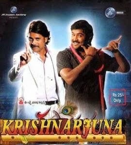 Poster Of Krishnarjuna (2008) Full Movie Hindi Dubbed Free Download Watch Online At worldfree4u.com