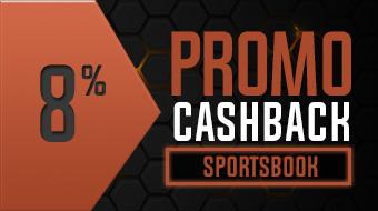 CASHBACK SPORTSBOOK 8%