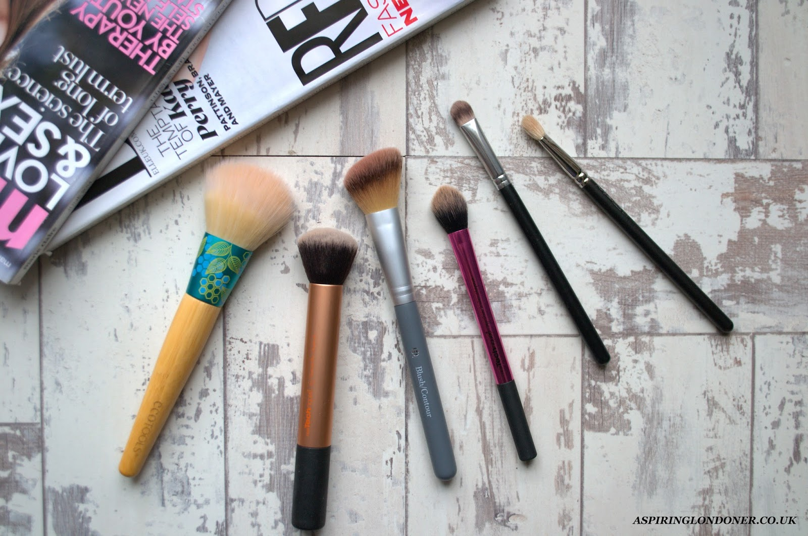 Current Most Used Brushes ft ecoTools, Real Techniques, B Beauty, Crown Brush - Aspiring Londoner