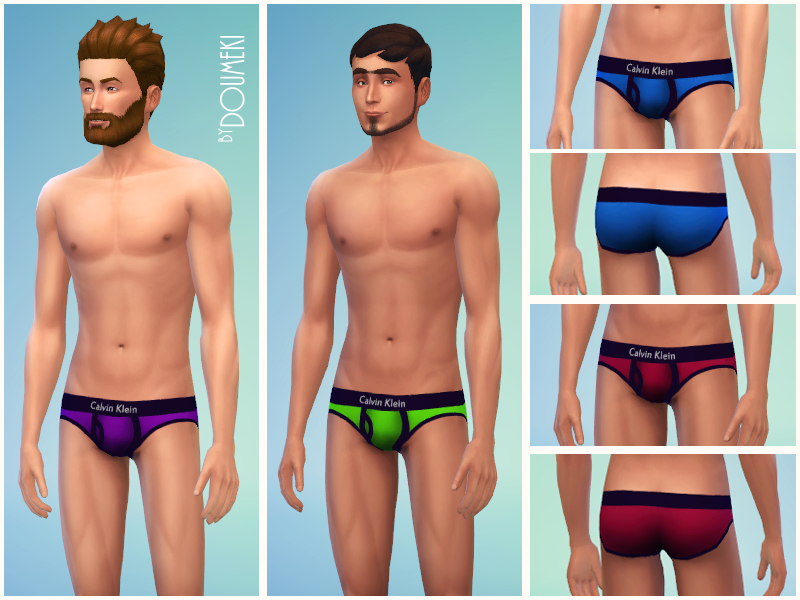 My Sims 4 Blog Calvin Klein Underwear For Males By Thesimguys