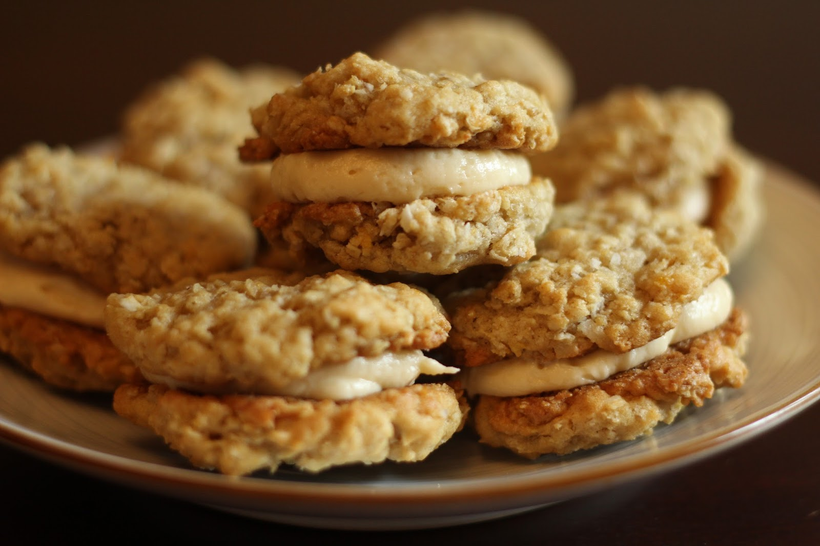 ... ...Cafe: Oatmeal Cream Pies with Salted Caramel Buttercream Frosting
