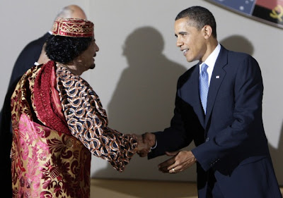 Obama and Gaddafi