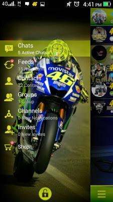 BBM MOD Valentino Rossi 46 Transparan V 2.8.0.21 Apk
