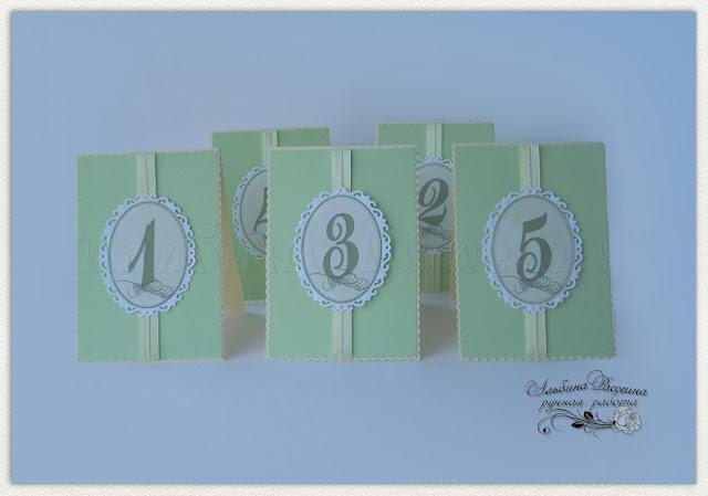 Банкетные карточки. Рассадка гостей. Свадьба. Номерки на столы.