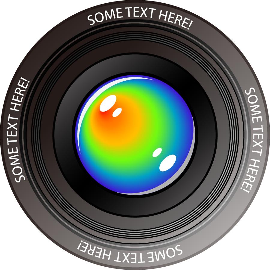 カメラレンズのクリップアート camera lens vector イラスト素材1