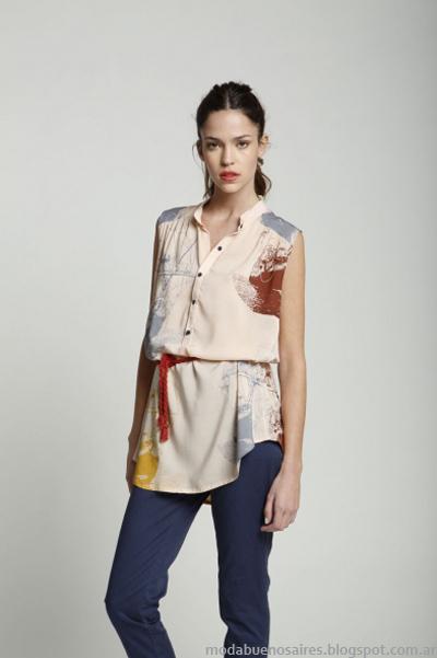 Leandro Dominguez camisas y blusas primavera verano 2014