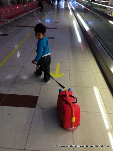 Ride-on suitcases like the Trunki are a life-saver