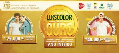 Promoção Vale Ouro Tintas Lukscolor