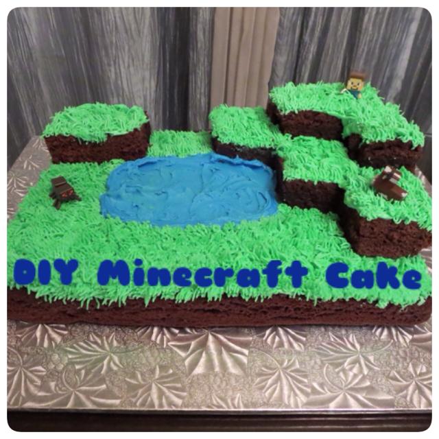 Sharrons Take How To Make A Minecraft Cake