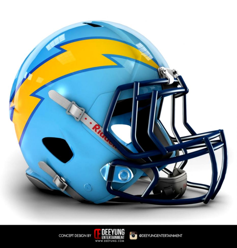 This proposed new San Diego Chargers helmet is the coolest thing