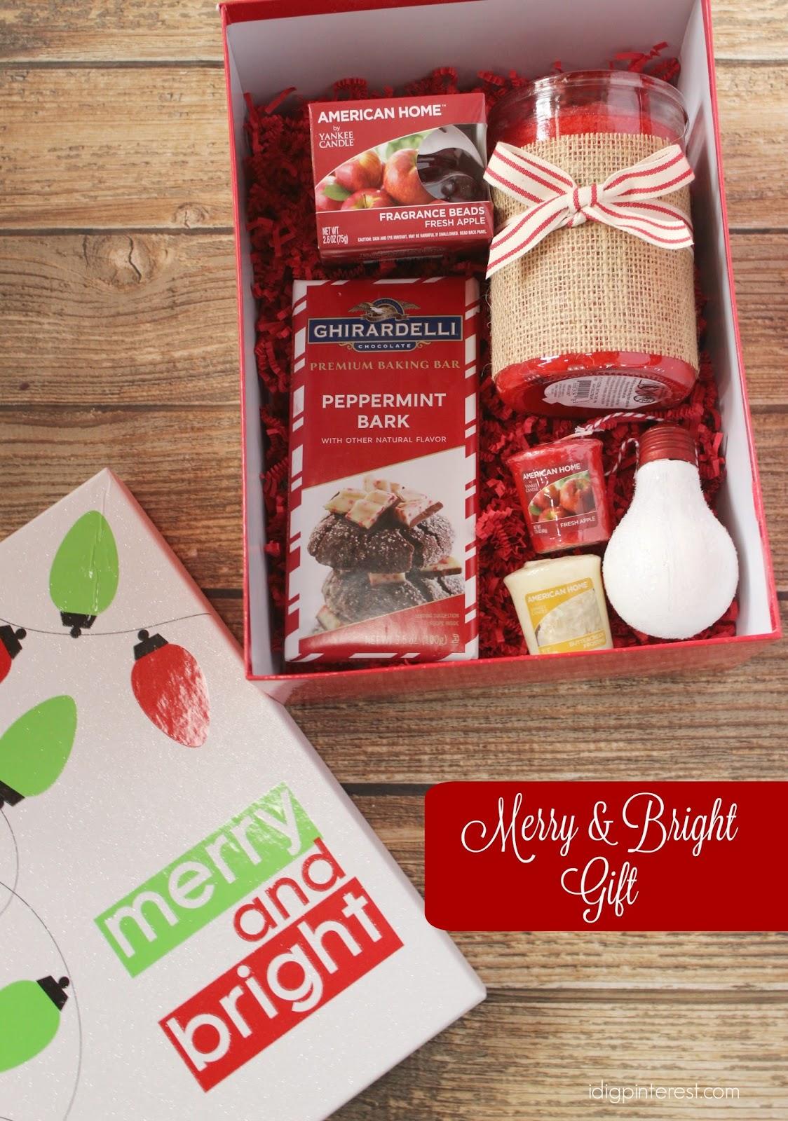 Merry & Bright Holiday Hostess Gift - I Dig Pinterest