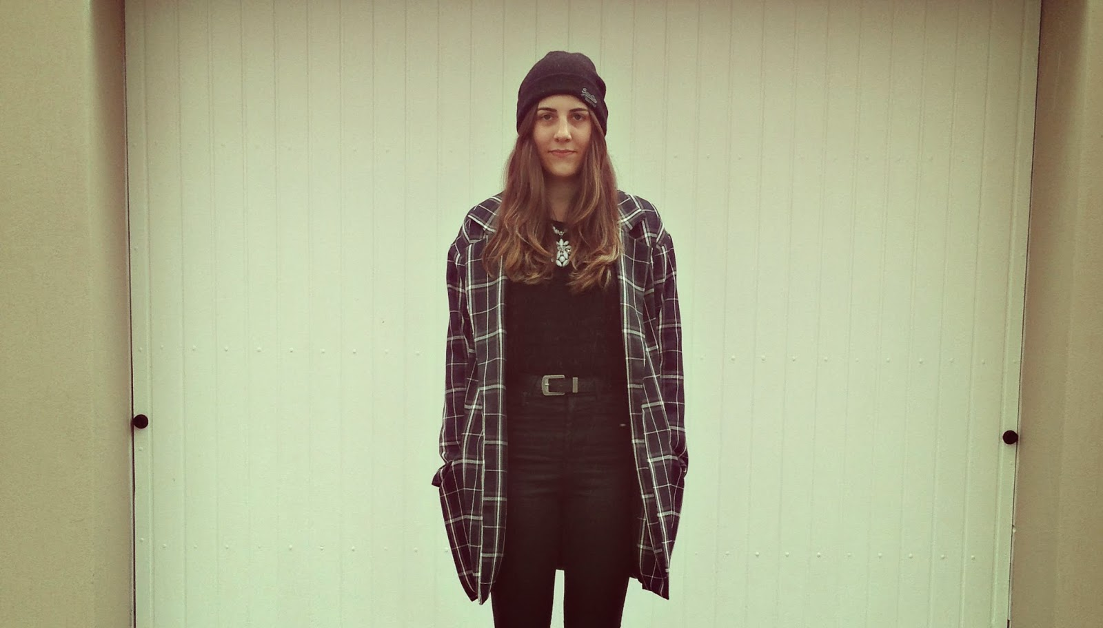 navy plaid winter oversized coat topshop