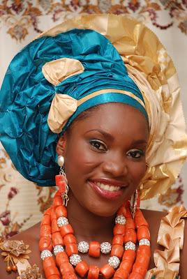 Dakore EgbusonAkande amp Husband Olu attend Beccas Wedding