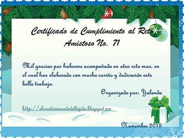Certificado Reto 71