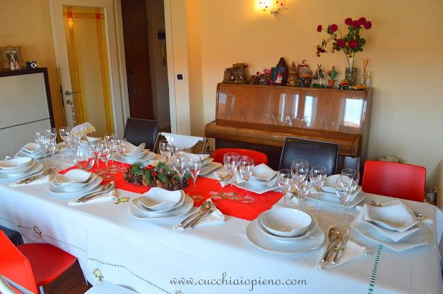 decoração mesa de natal