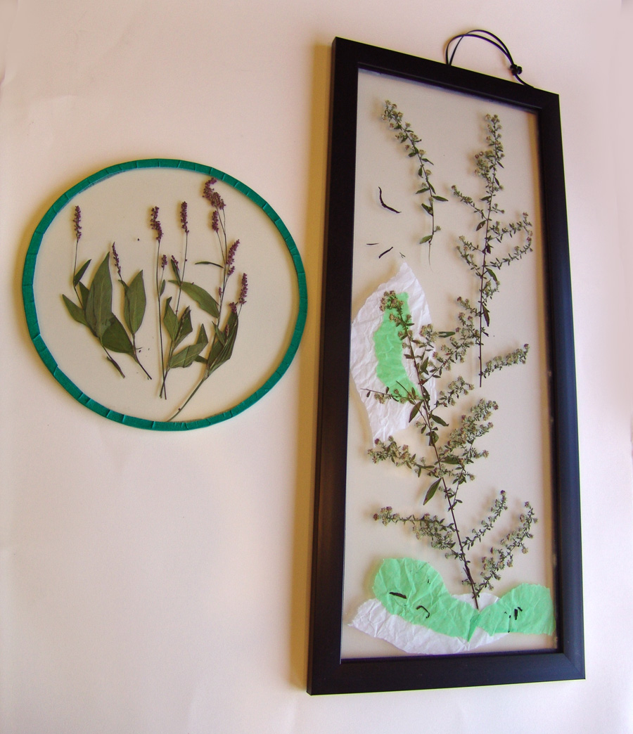 Cool stuff art gallery glass painted dried flower art project for Projects with glass