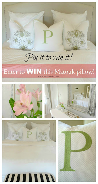 Want to Win One of MATOUK'S Luxurious LogoType Pillows? Starting now through April 18th, follow this pin and enter for a chance to win a Matouk Logotype Pillow. Enter for a chance to win it and PIN IT for even more chances to win!