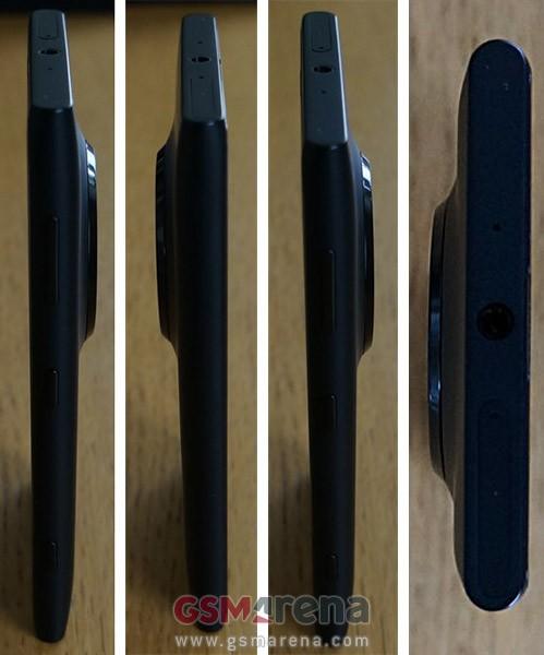 Le immagini del design laterale, lo spessore, e la fotocamera del prossimo windows phone Nokia EOS con pureview