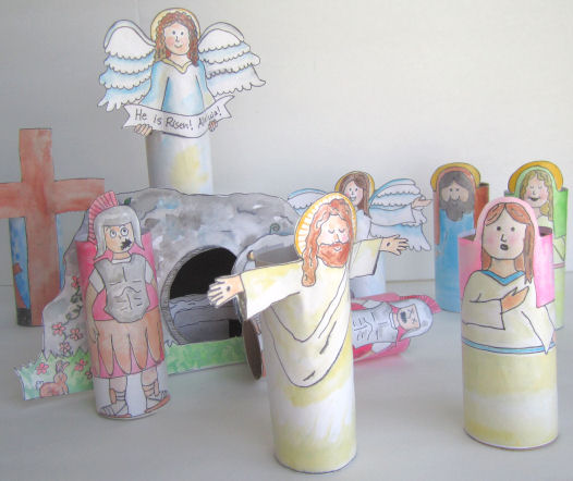 Religious Easter Craft For Kids Make A Resurrection Set