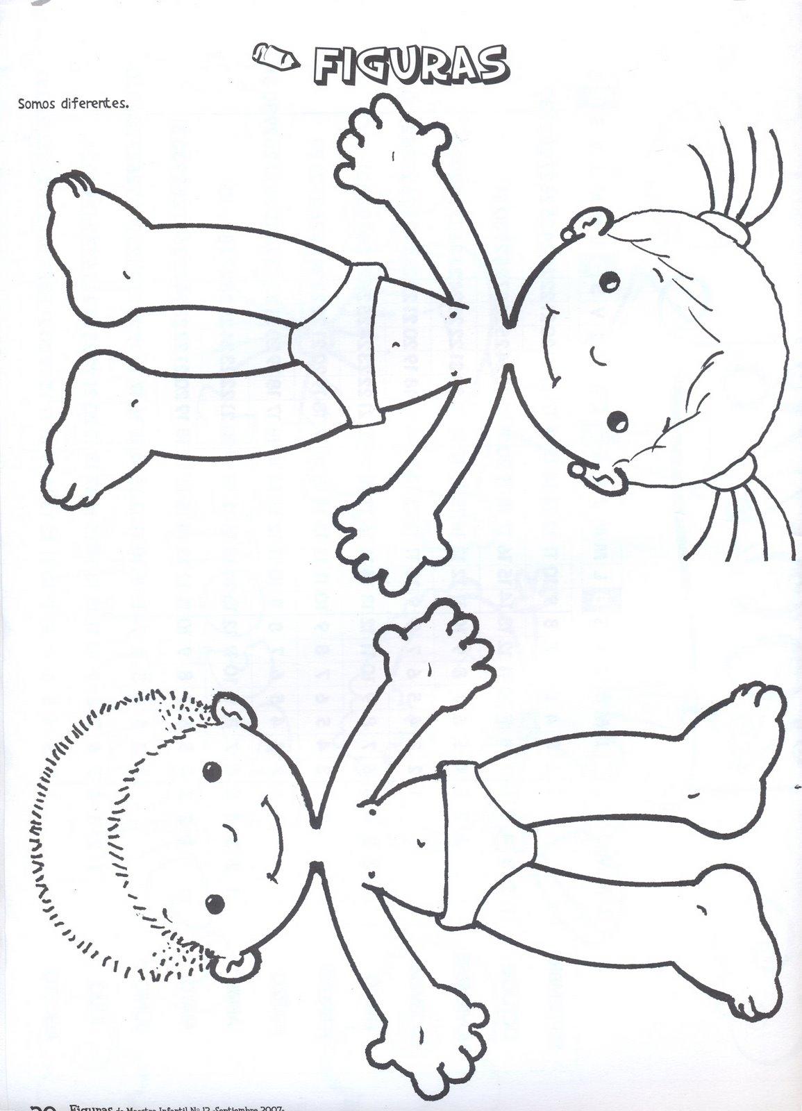 Moldes para Todo: * Figuras del Cuerpo Humano