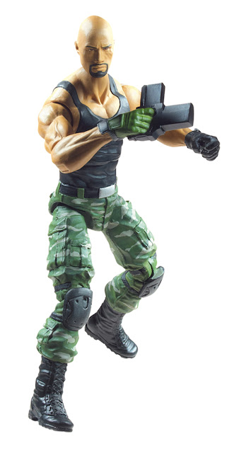 "First Look: Dwayne ""The Rock"" Johnson as Roadblock G.I. Joe: Retaliation 3.75 Inch Action Figure"