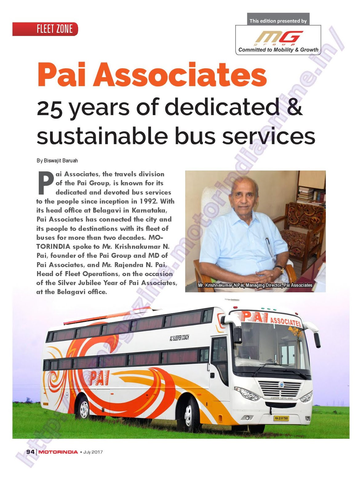 MOTOR INDIA ARTICLE 14 : PAI ASSOCIATES