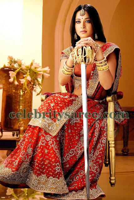 Anushka Heavy Work Wedding Saree