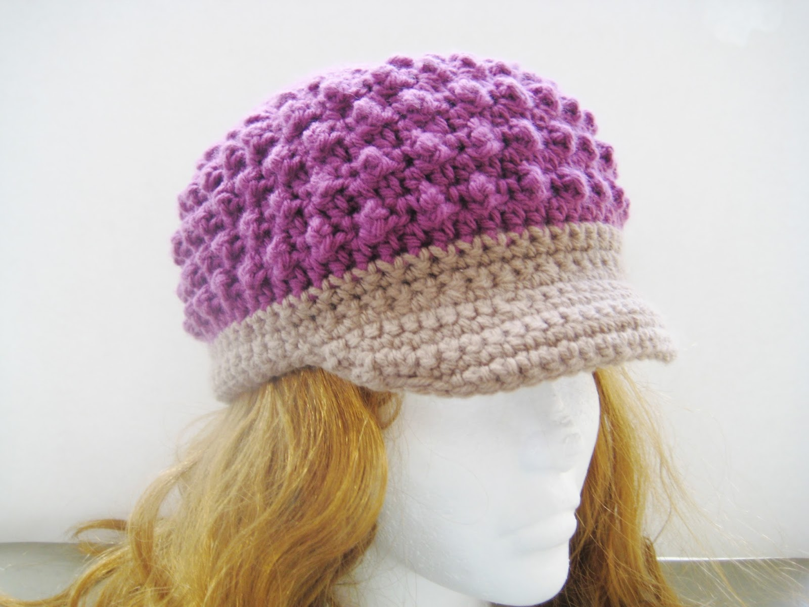 Crochet Baby Hat With Bill Pattern : Crochet Dreamz: Visor Beanie Crochet Pattern for Girls and ...