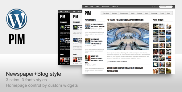 PIM - Magazine WordPress Theme Free Download by ThemeForest.