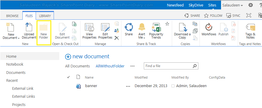 New Folder button disabled in sharepoint 2010, 2013