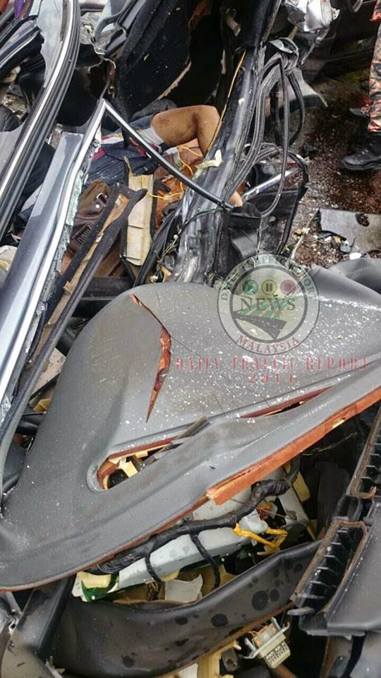 Kemalangan maut Ketengah Jaya, Proton Perdana Putus Dua, Rempuhan Kuat Honda CRV dan Proton Perdana, 7 Gambar Kemalangan di Ketengah Jaya