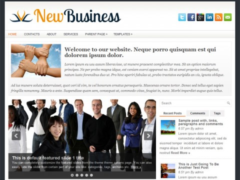Free NewBusiness WordPress Theme