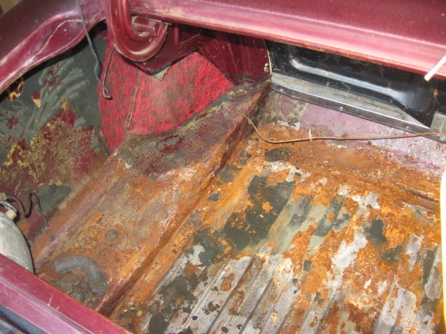 Junk In The Trunk And Rust And Carpet And Foam And