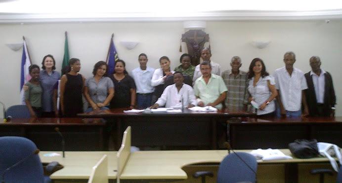 Alguns participantes da I Conf. Quilombola Regional Sul