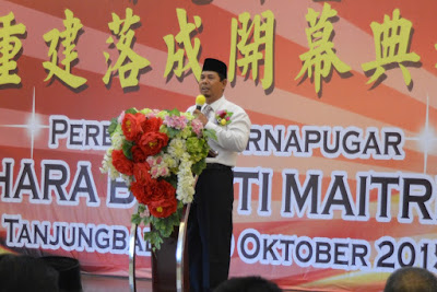 Peresmian Vihara Bhakti Maitreya Kota Tanjungbalai