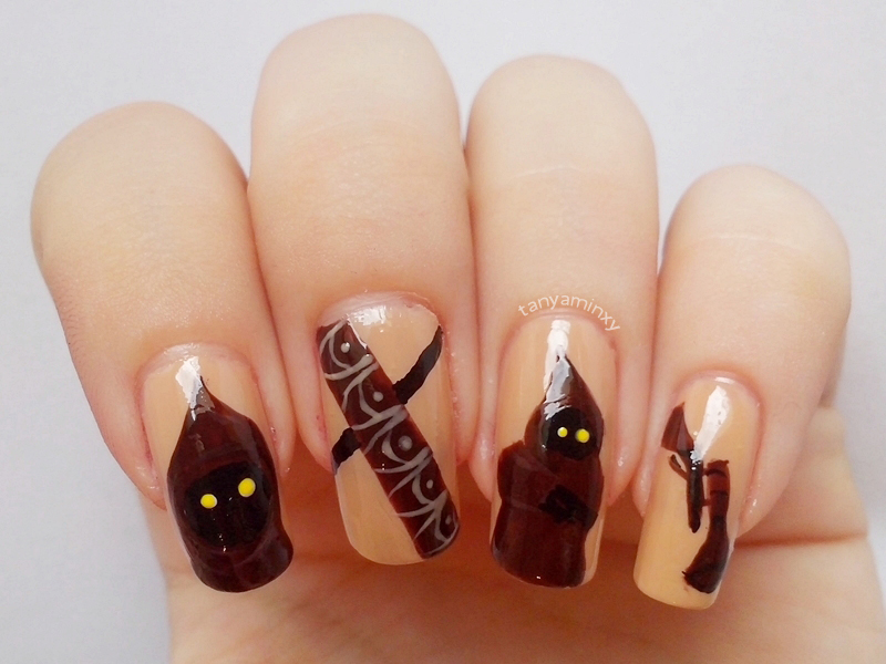 Star Wars Jawas Nails SciFi Movie Geek Nerd Nails