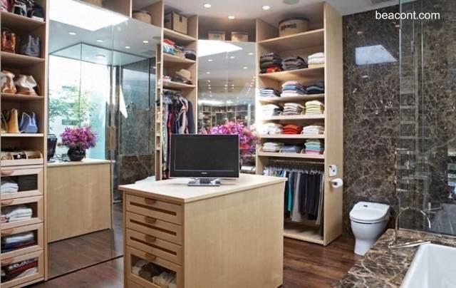 Arquitectura de casas dise os de vestidores closets for Banos modernos con walking closet