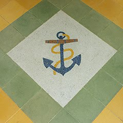 RNS Tiled Motif in School Hall Porch