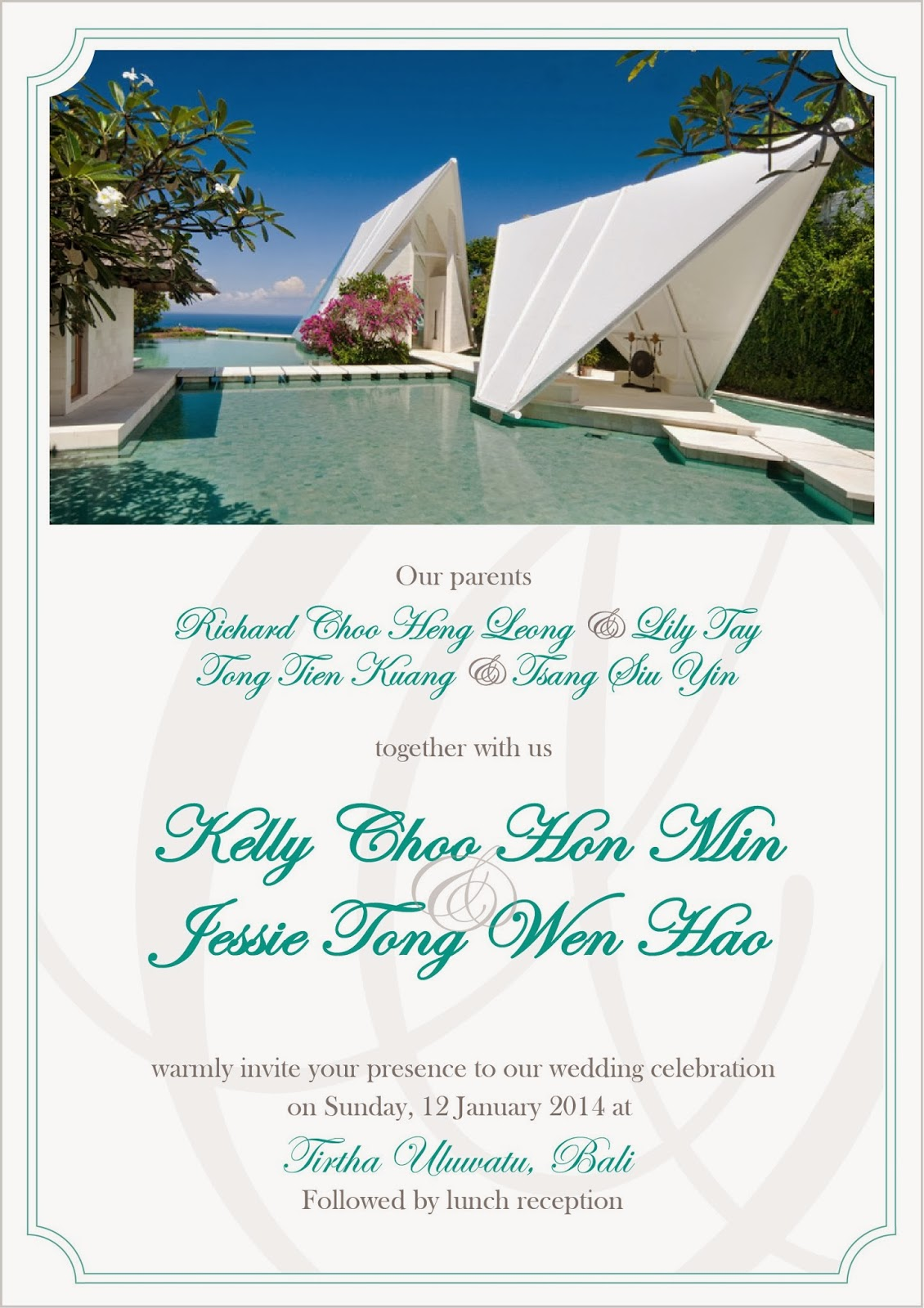 Not Another Wedding Reception: Our Wedding Invitation for Tirtha ...