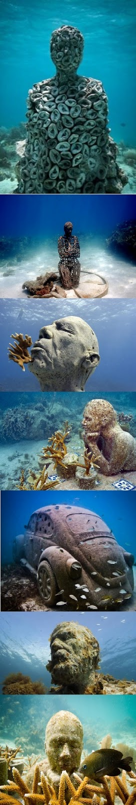 Cancun underwater museum mexico for Spain underwater museum
