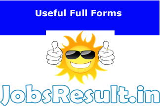 Useful Full Forms